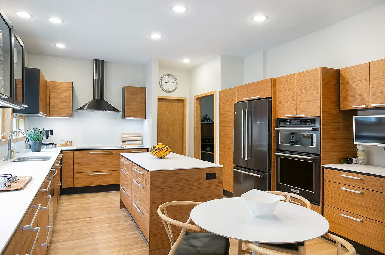 mid-century modern kitchen remodel angle 3